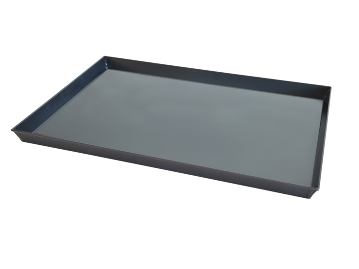 Flat tray with flared edges
