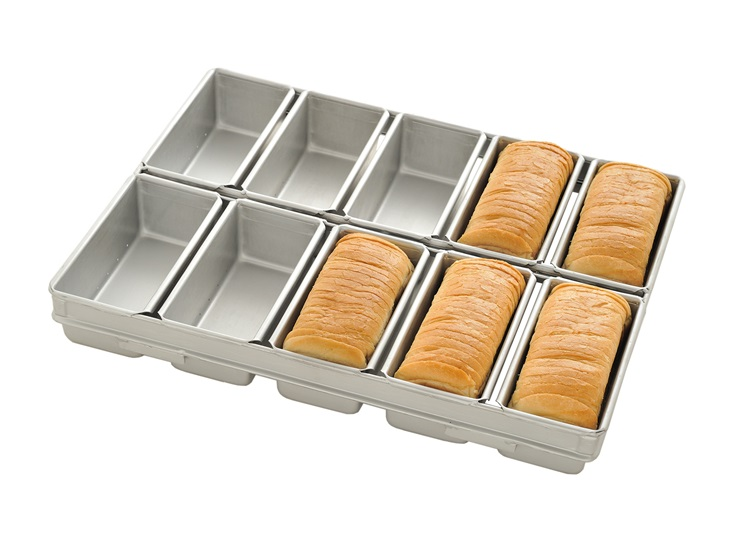 Set of pressed moulds for white bread
